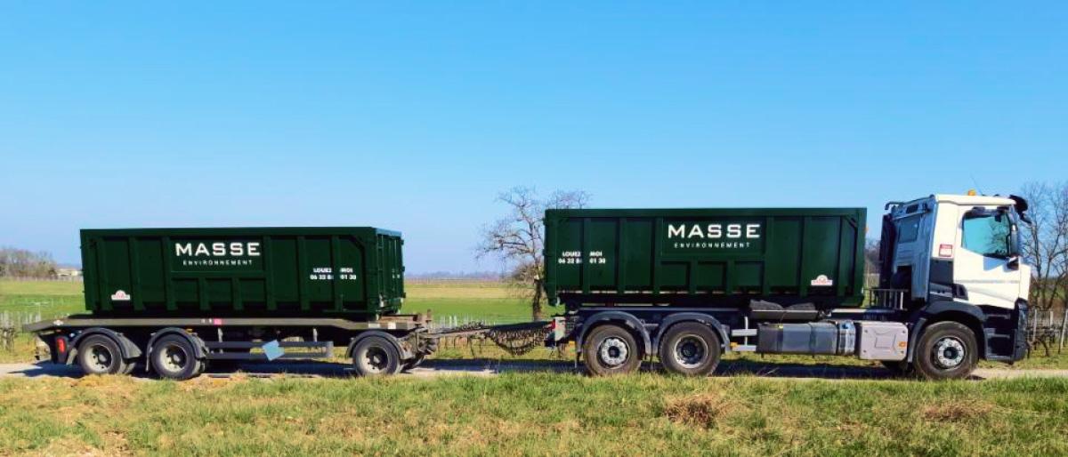 Société de recyclage, location de bennesMasse Environnement Gironde